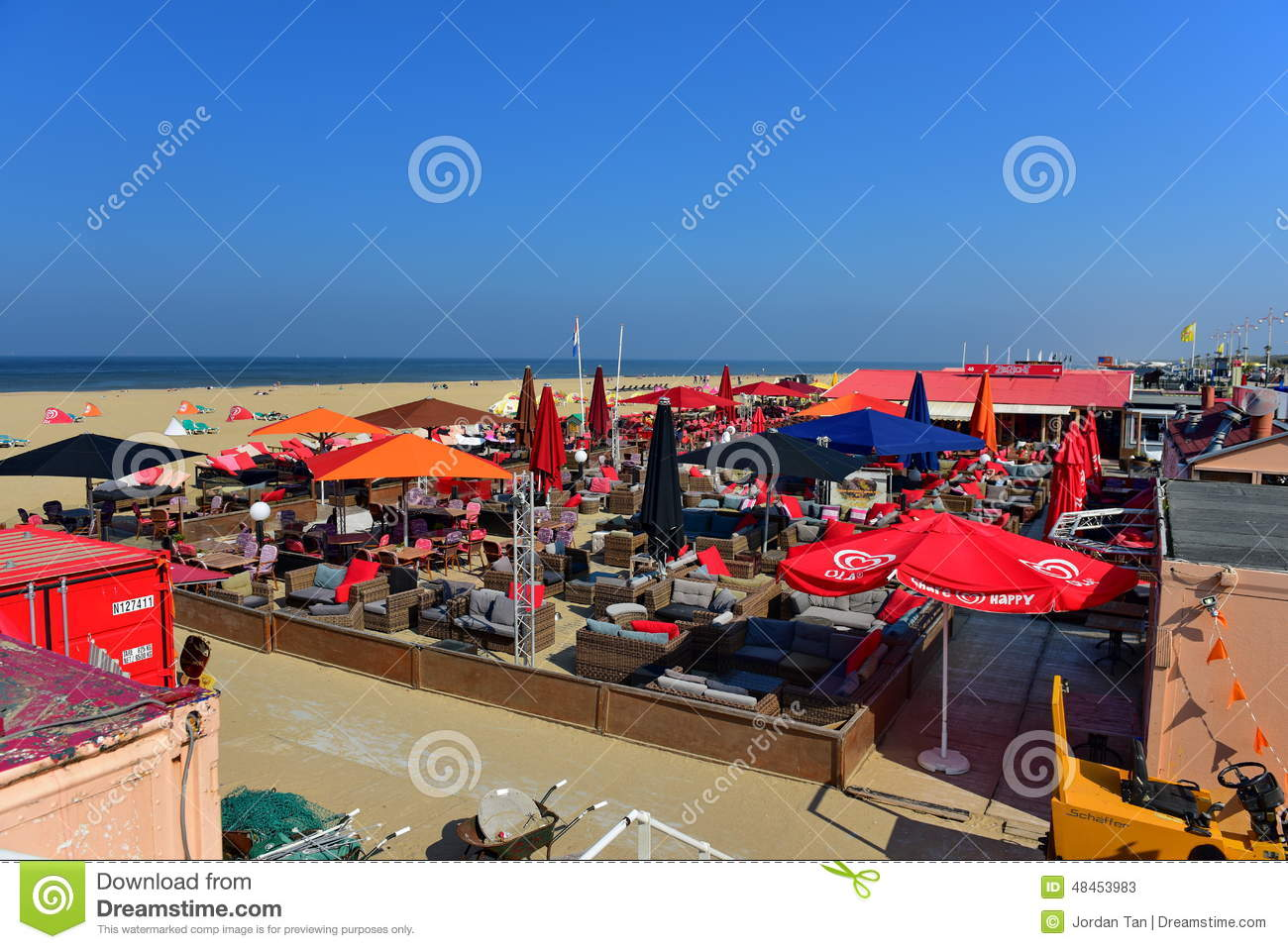 Scheveningen Beach Restaurants Bars And Restaurants Along The Sandy Beach Of Scheveningen
