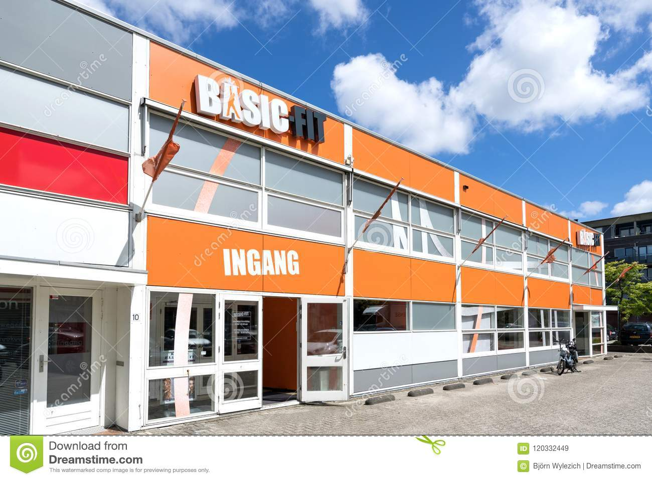 Delft Brand Basic Fit Fitness Club In Delft Netherlands Editorial Stock Image