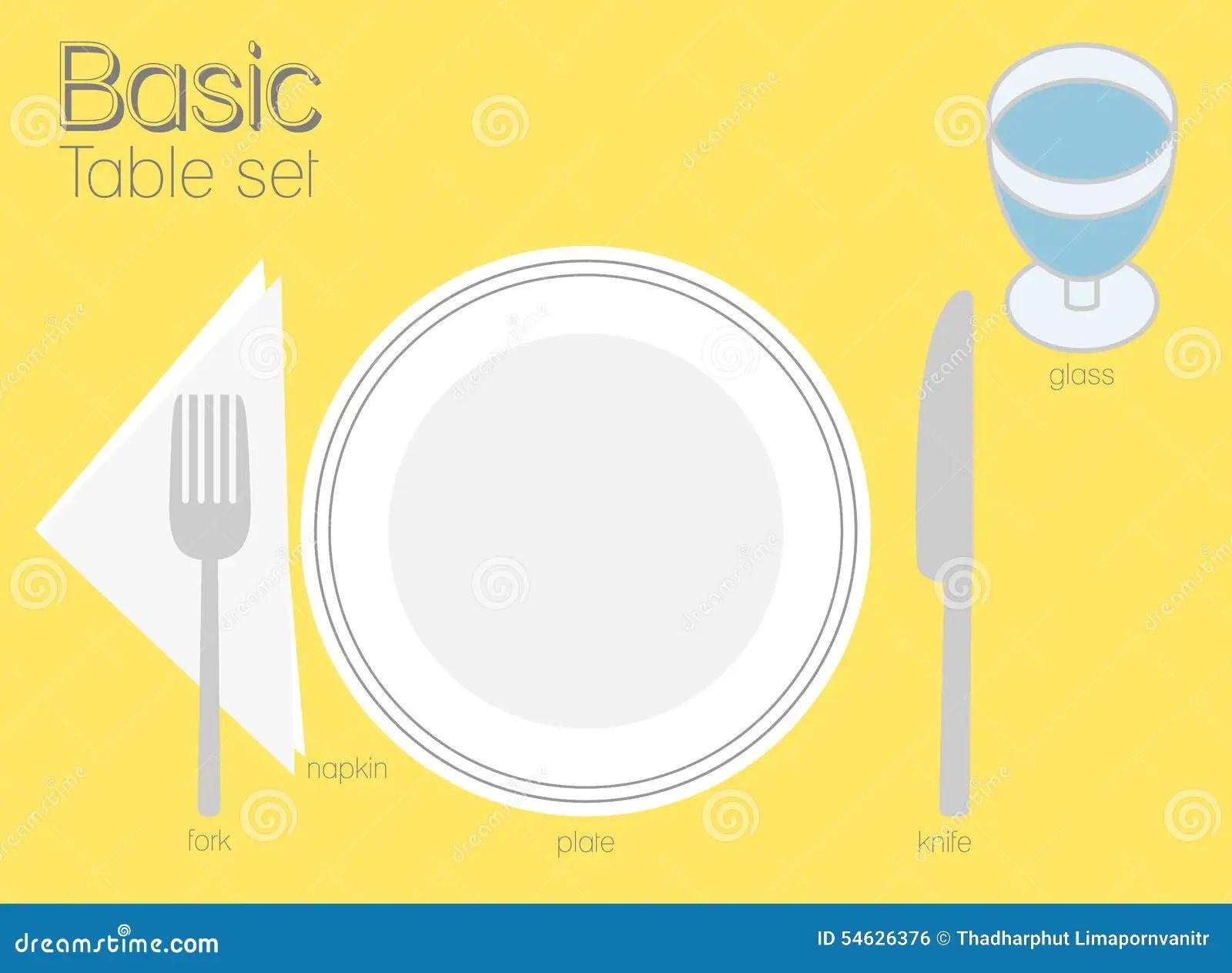 Simple dinner table setting - Simple Dinner Table Setting