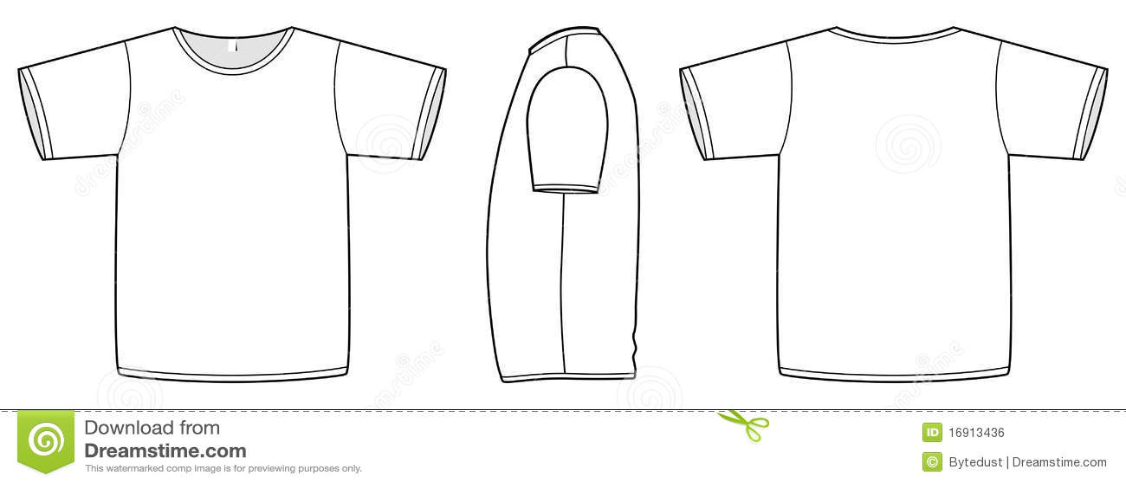 Basic Vector Unisex T-shirt Template Illustration Royalty Free - t shirt template