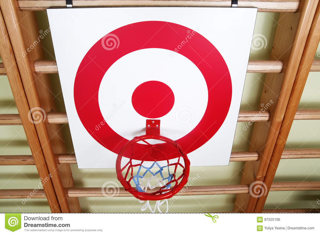 Basketball Ring Target Basket Ball And Shooting Target Board Royalty Free Stock