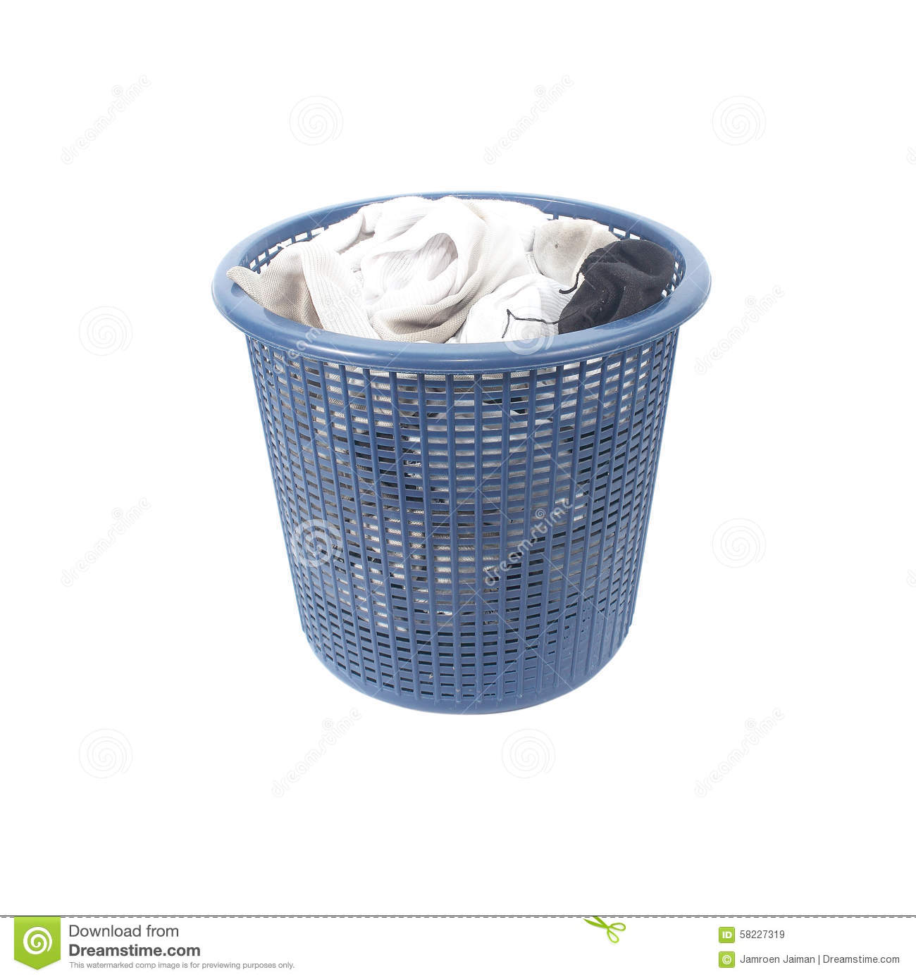 Dirty Laundry Baskets Basket Of Dirty Laundry Dirty Socks Stock Photo Image
