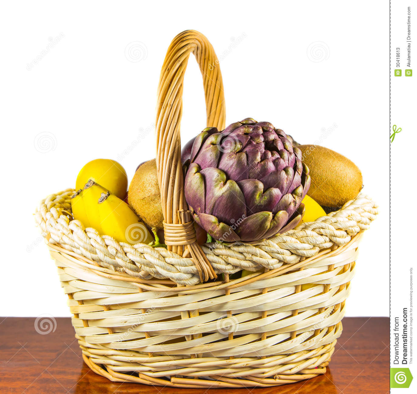 Table Top Fruit Basket Basket Of Fruits Stock Photos Image 30418613