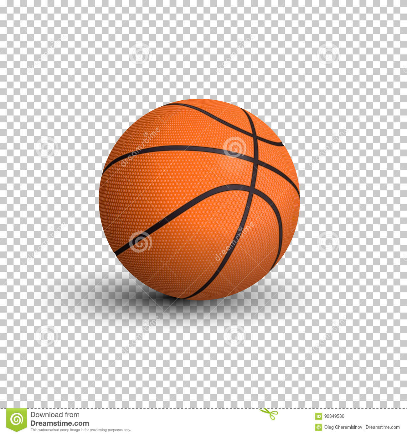 Basketball Ball Basketball Ball Isolated On Transparent Background Vector