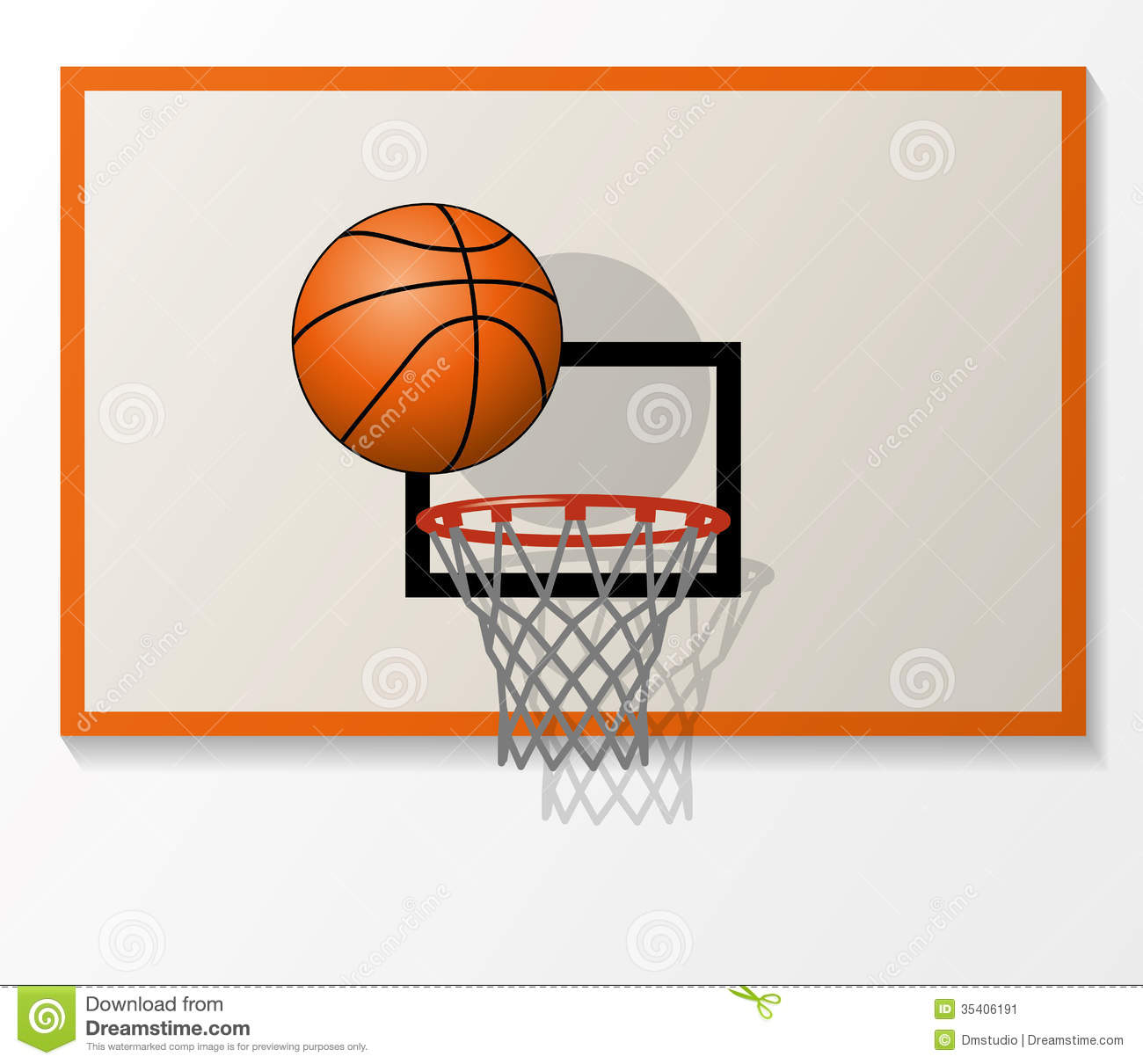 Basketball Ring Target Vector Basketball Items Stock Vector Illustration Of Hoop