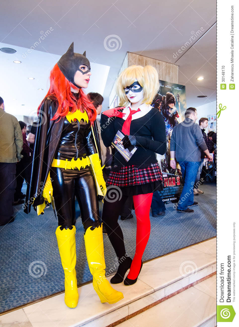 harlequin at comic con editorial stock image