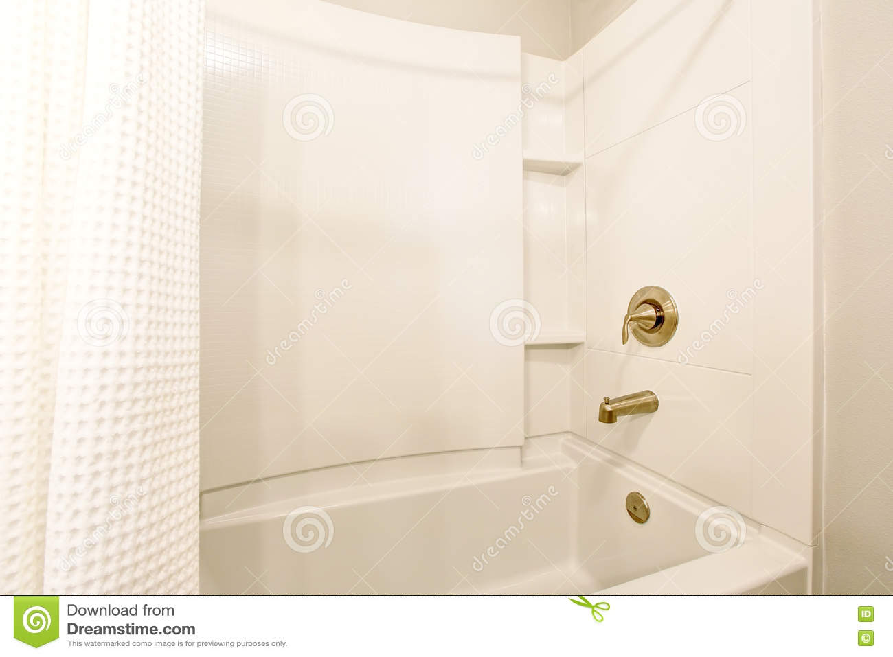 Usa Shower Curtain Bathroom Interior View Of White Bath Tub And White Shower Curtain