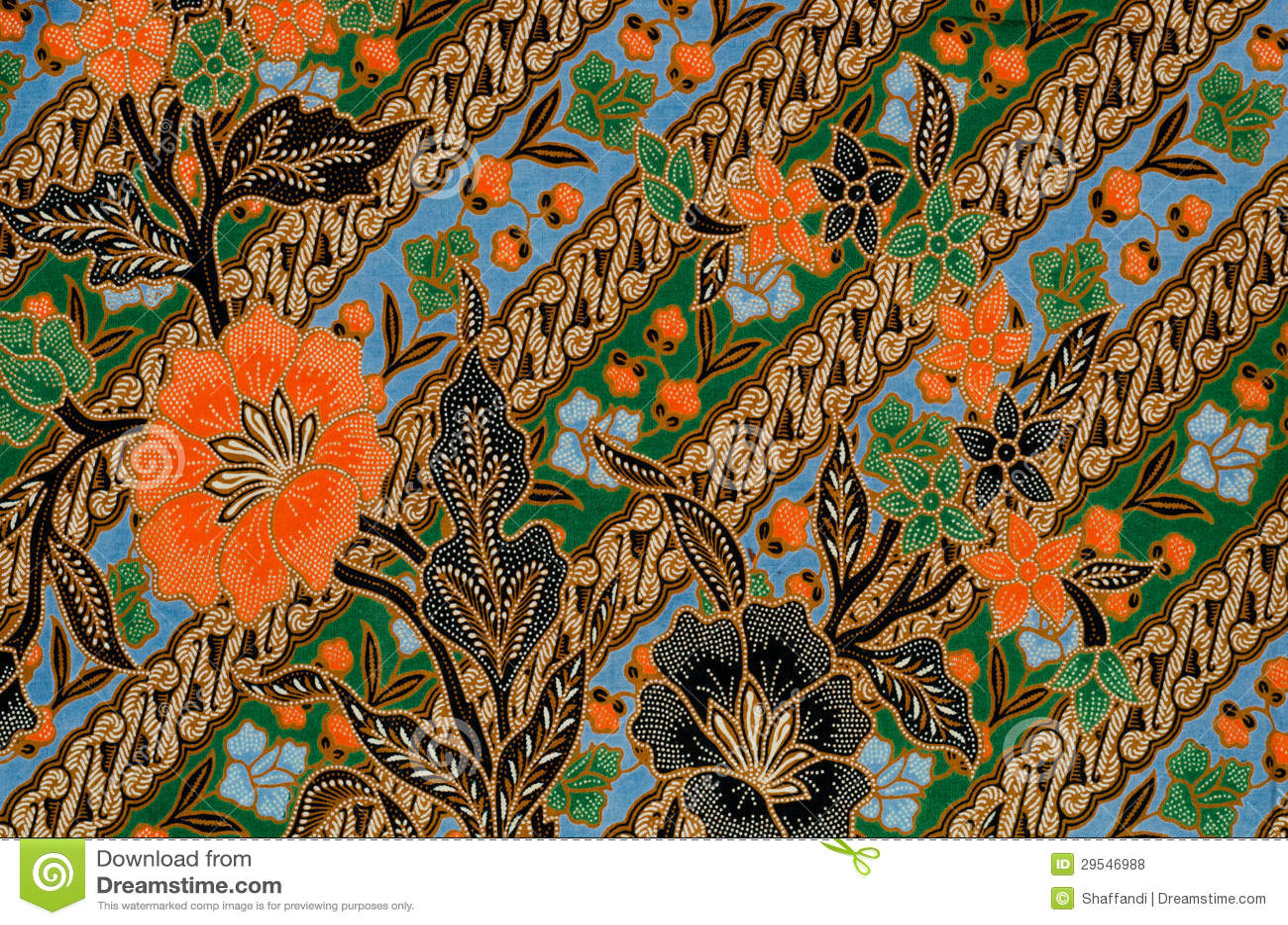 Royalty free stock photo batik design
