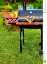 BBQ Summer Backyard Party Scene Stock Photo - Image: 41657427