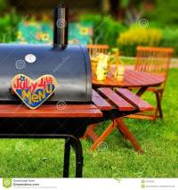 BBQ Summer Backyard Party Scene Stock Photo - Image: 41654322