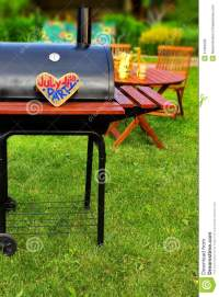 BBQ Summer Backyard Party Scene Stock Photo - Image: 41664036