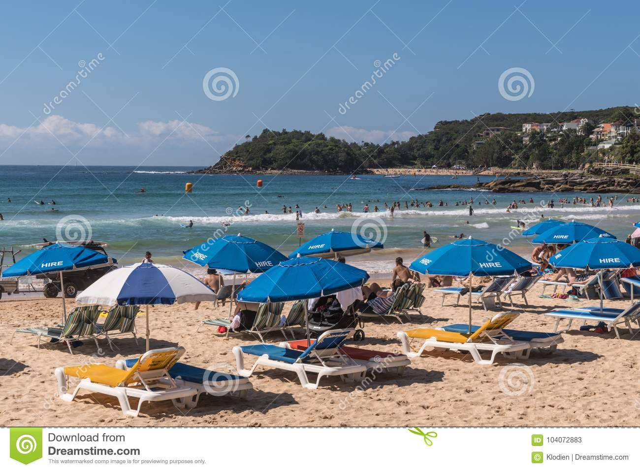 Beach Furniture Sydney Beach Chairs For Hire On Manly Beach Sydney Australia Editorial