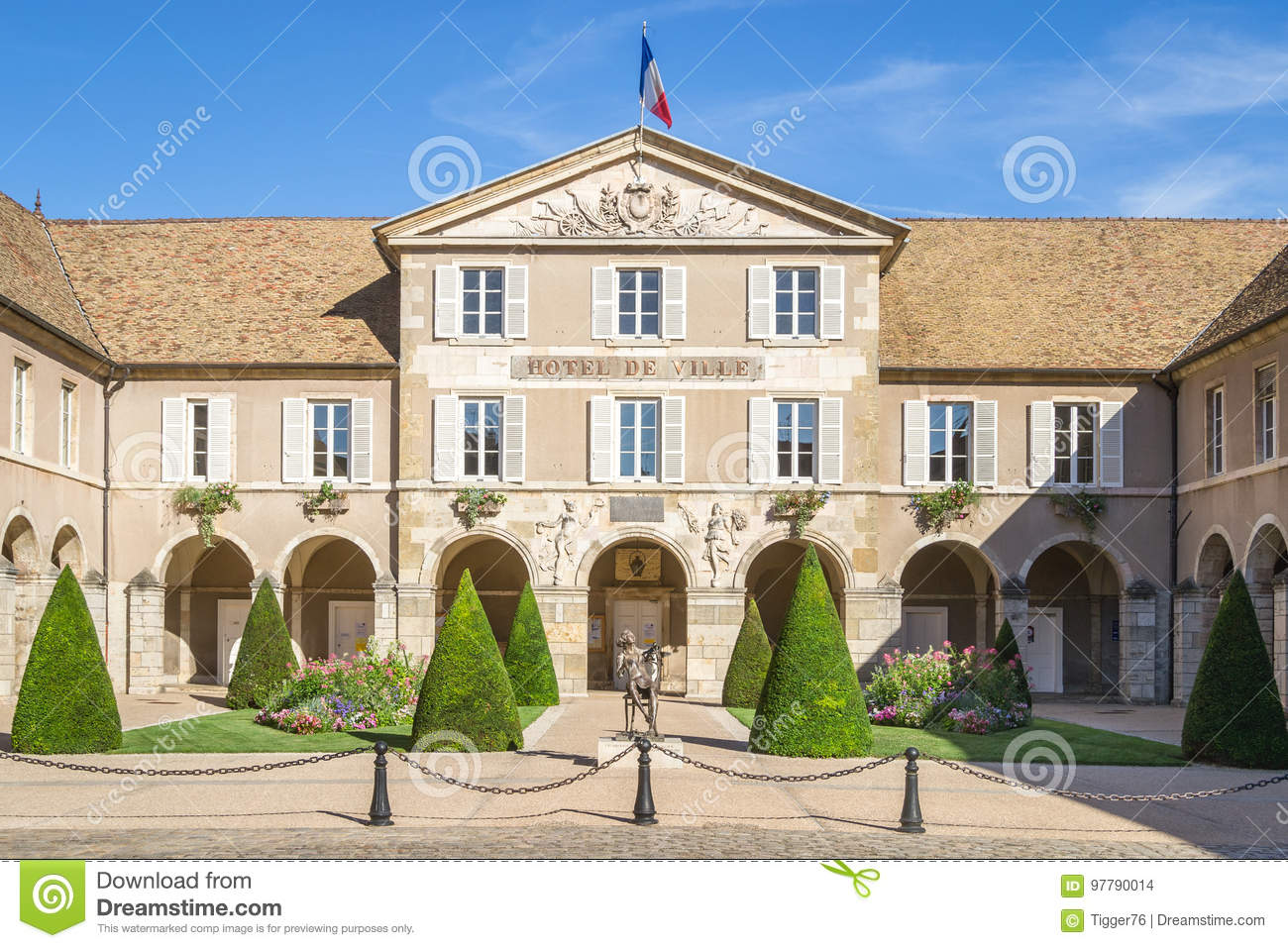 Beaune Hotel Town Hall Of The Small Burgundy City Of Beaune Editorial Stock