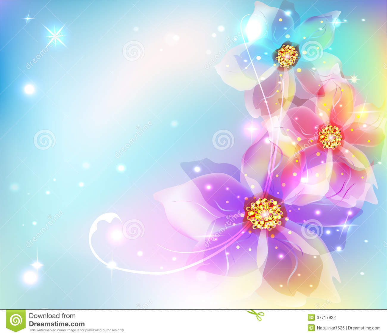 Butterfly Wallpaper For Desktop With Animation Beautiful Abstract Background With Flowers Stock