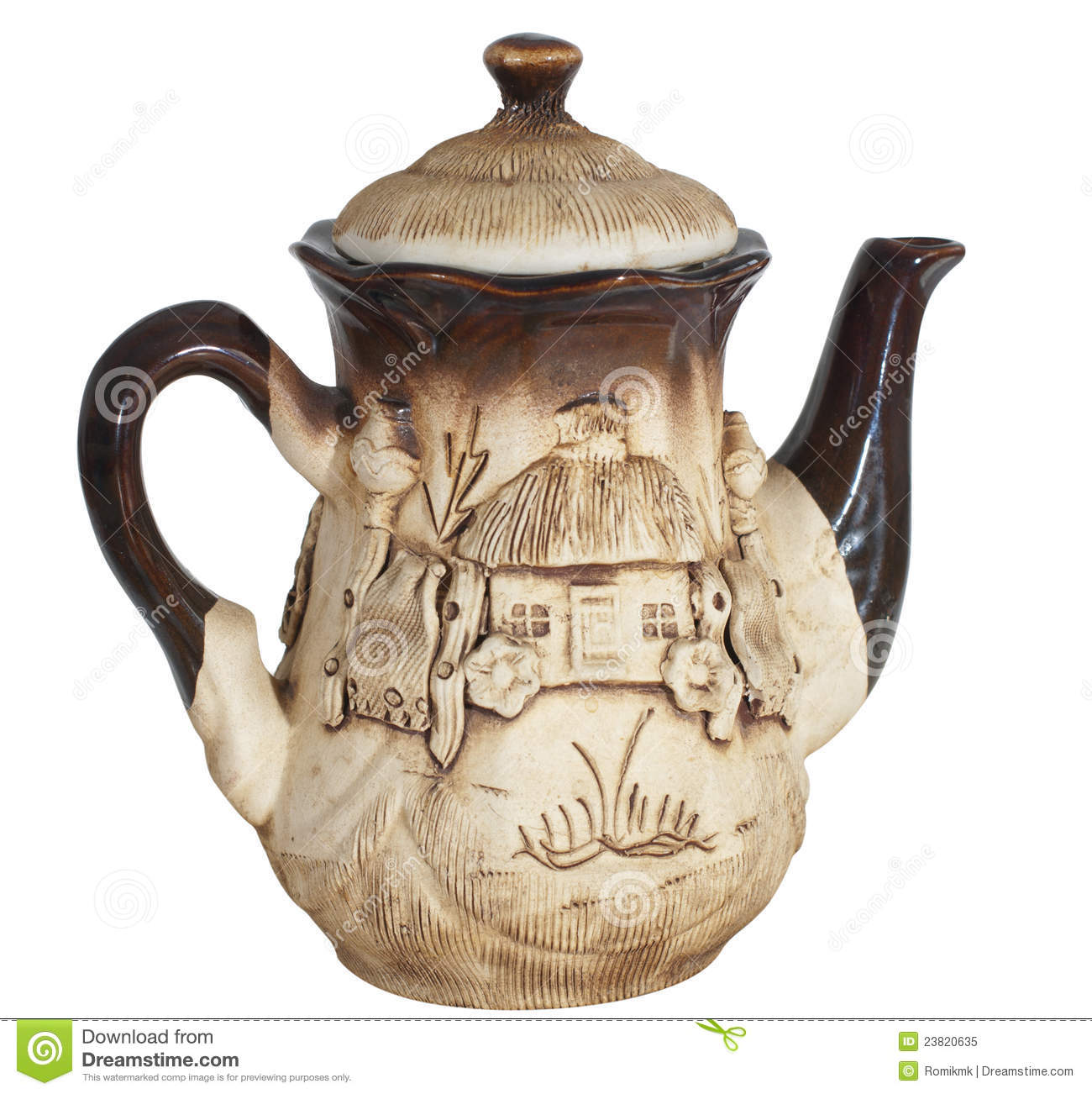 Beautiful Teapot Beautiful Clay Teapot Royalty Free Stock Photo Image
