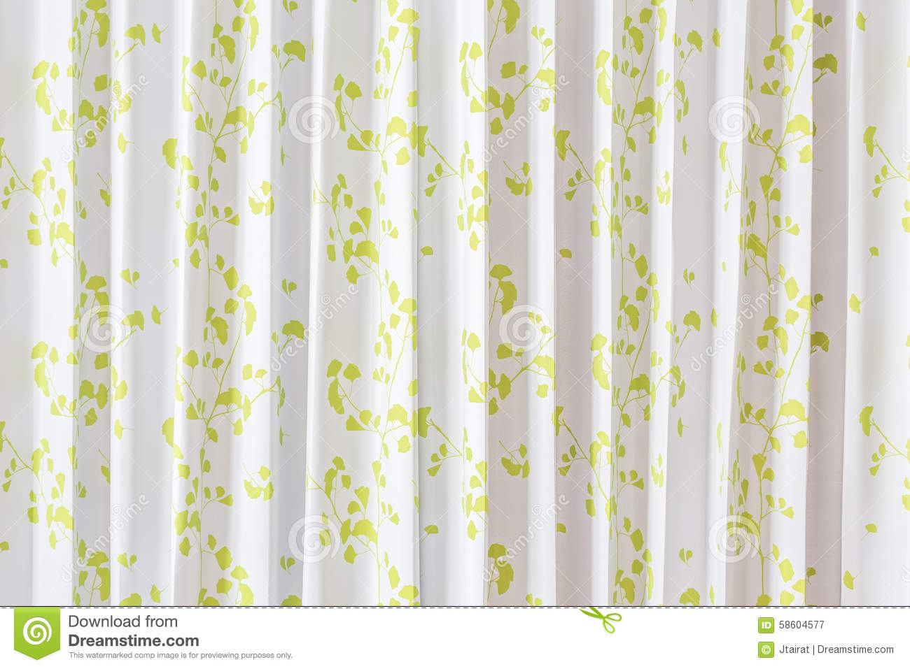 Beautiful Curtain Beautiful Curtain Stock Photo Image 58604577