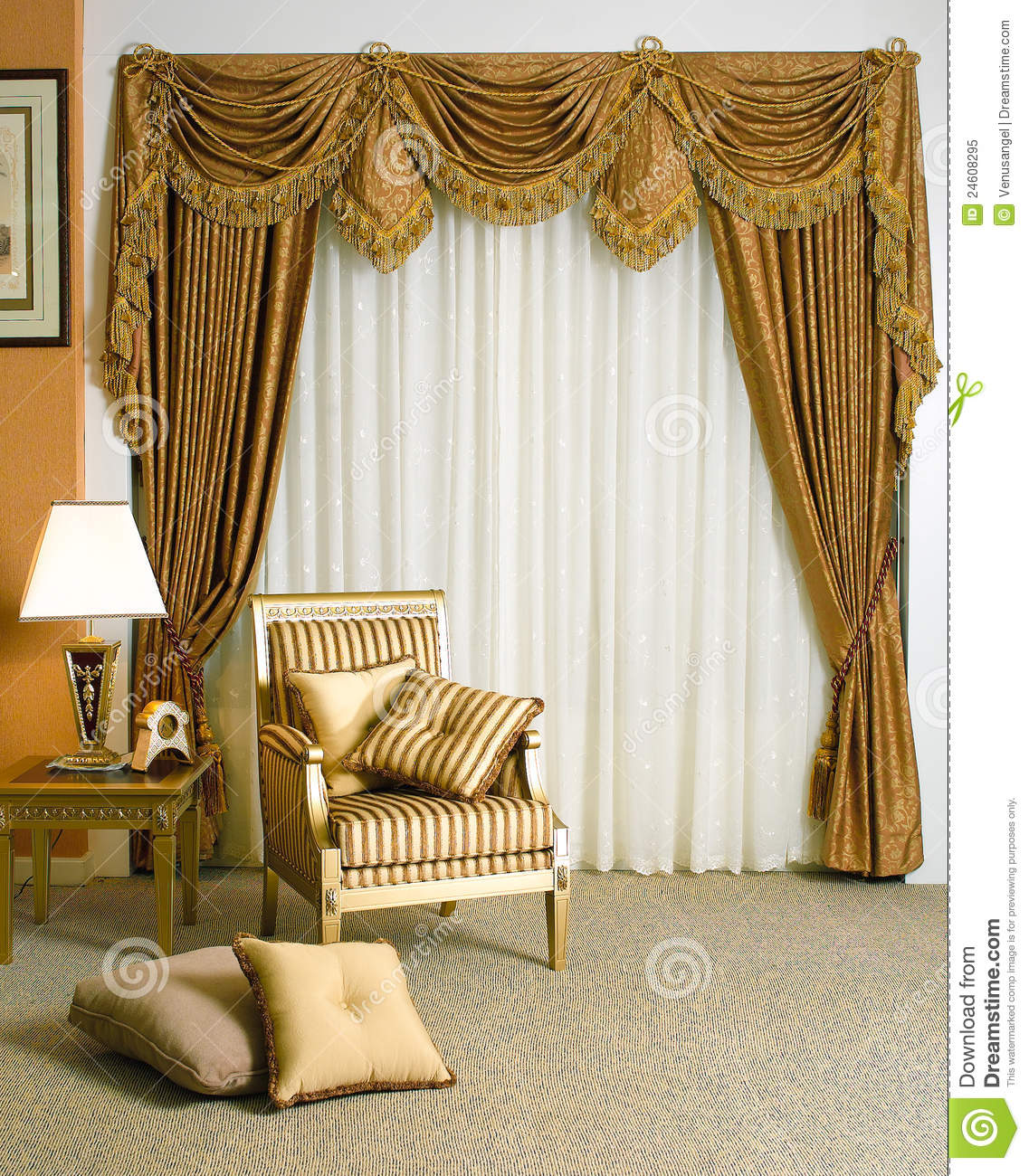 Beautiful Curtain Beautiful Curtain In Living Room Stock Image Image 24608295