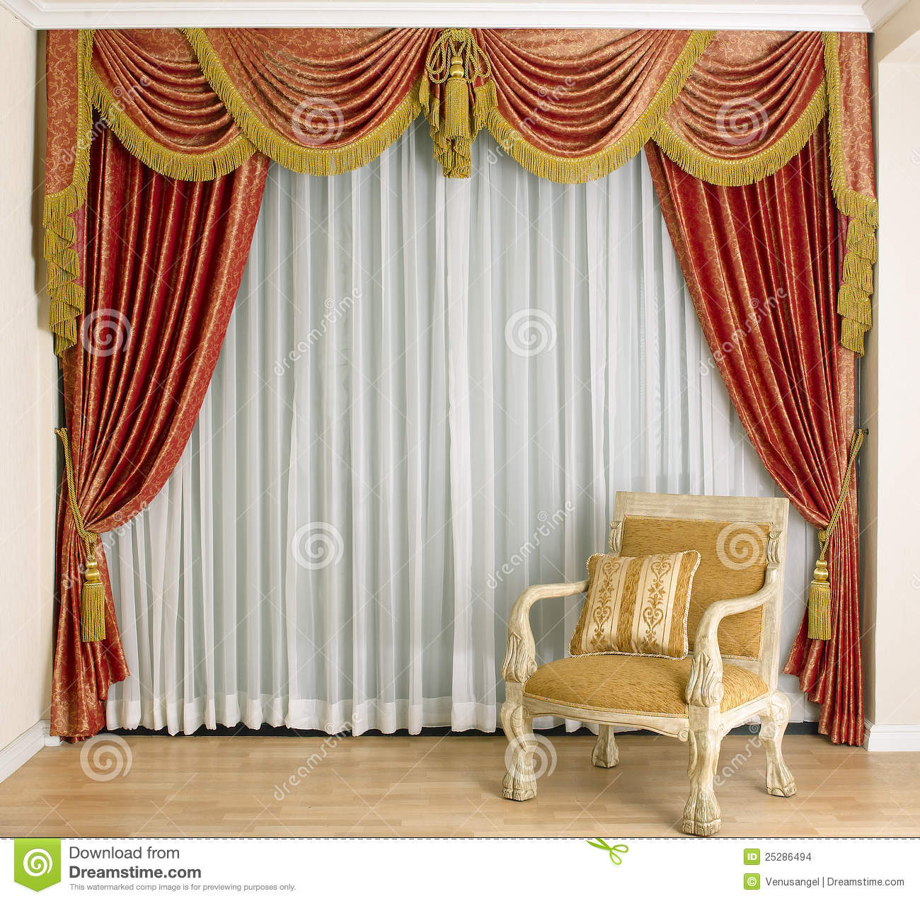 Beautiful Curtain Beautiful Curtain In Living Room Stock Photo Image 25286494