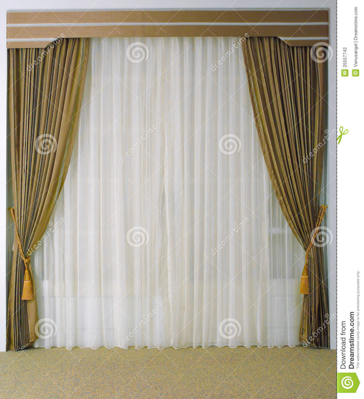 Beautiful Curtain Beautiful Curtain And Tassels Stock Photography Image