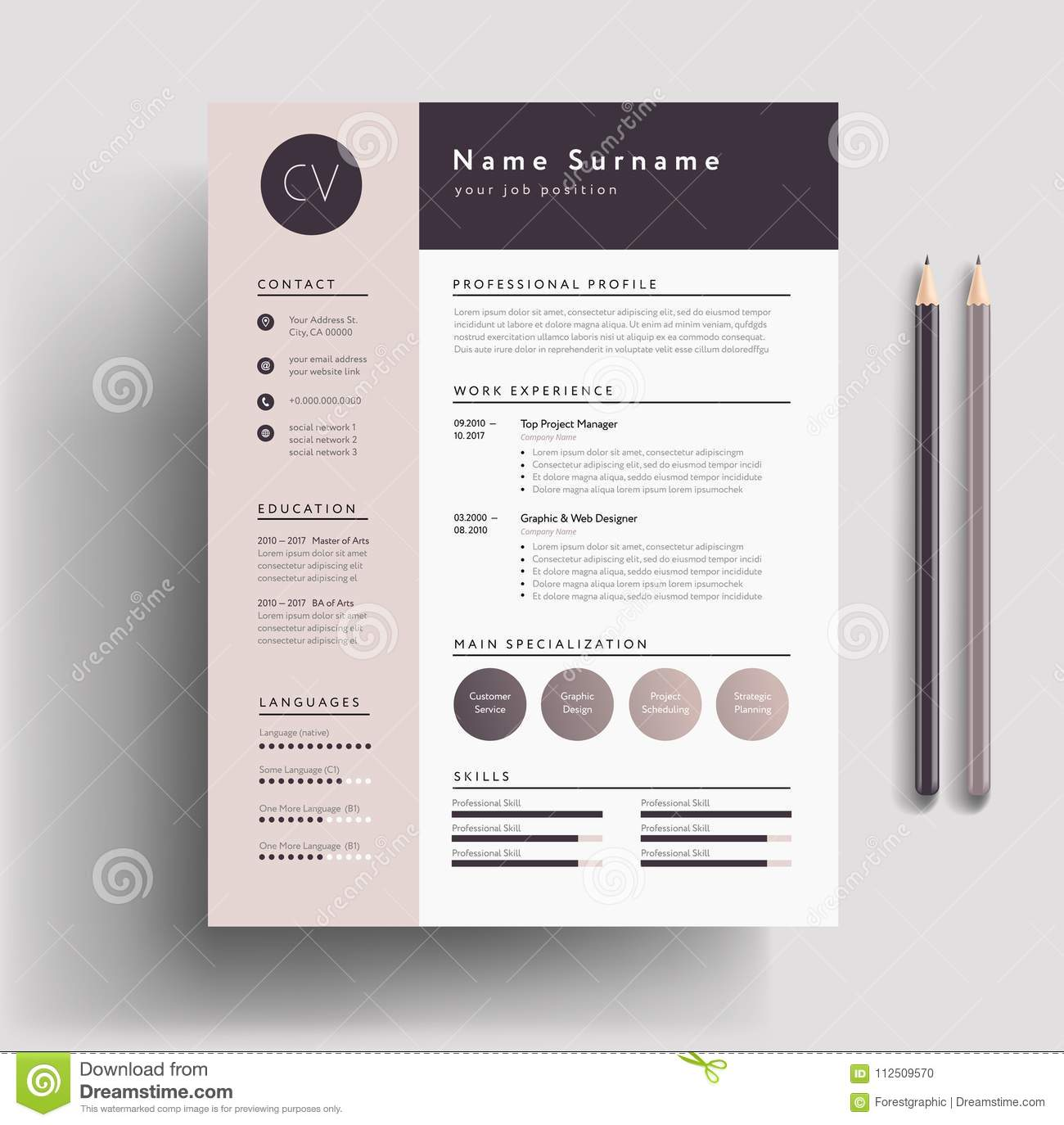 creative cv template word free download