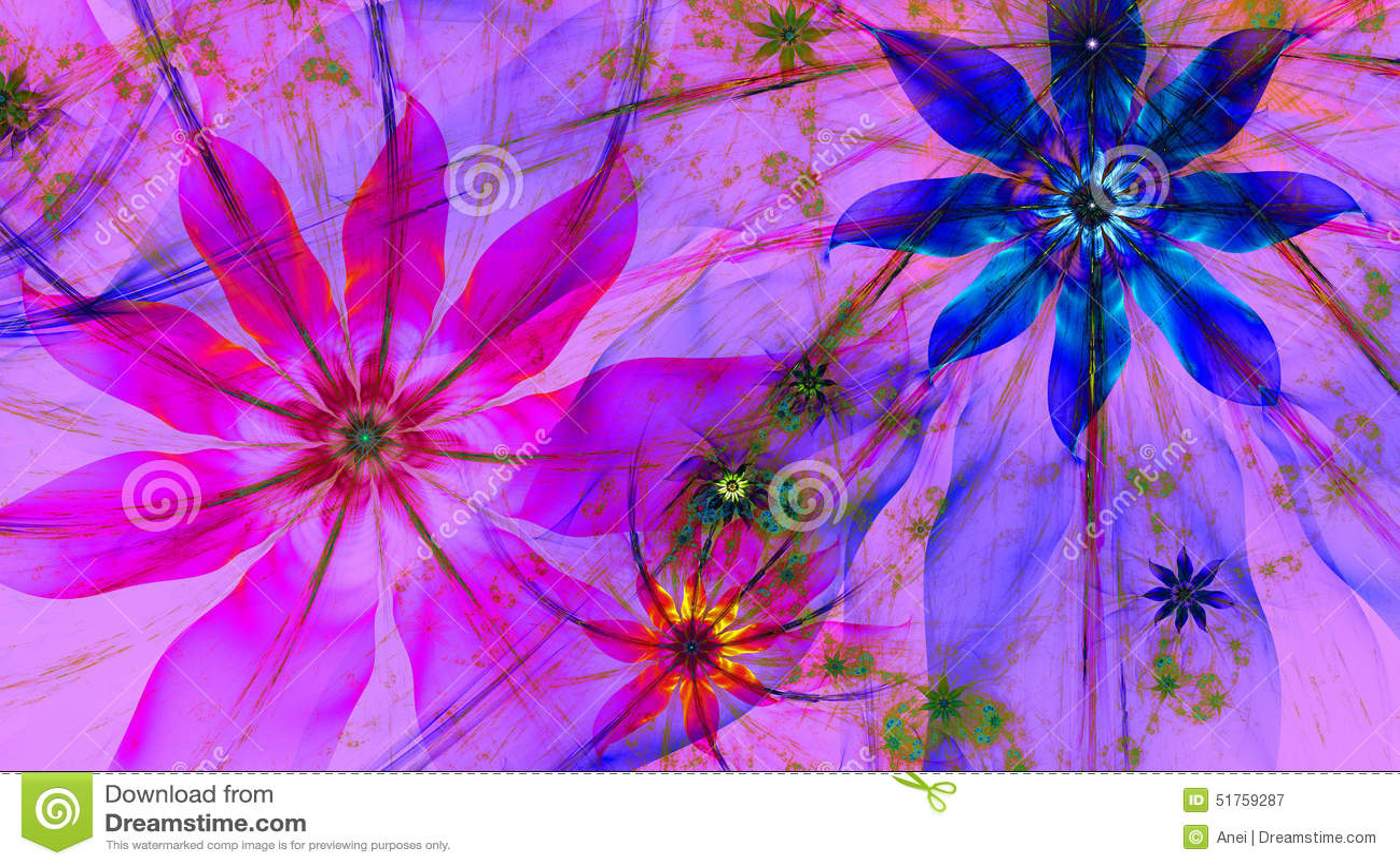Bright Colors Wallpaper 3d Beautiful Dark Vivid Glowing Modern Flower Background In