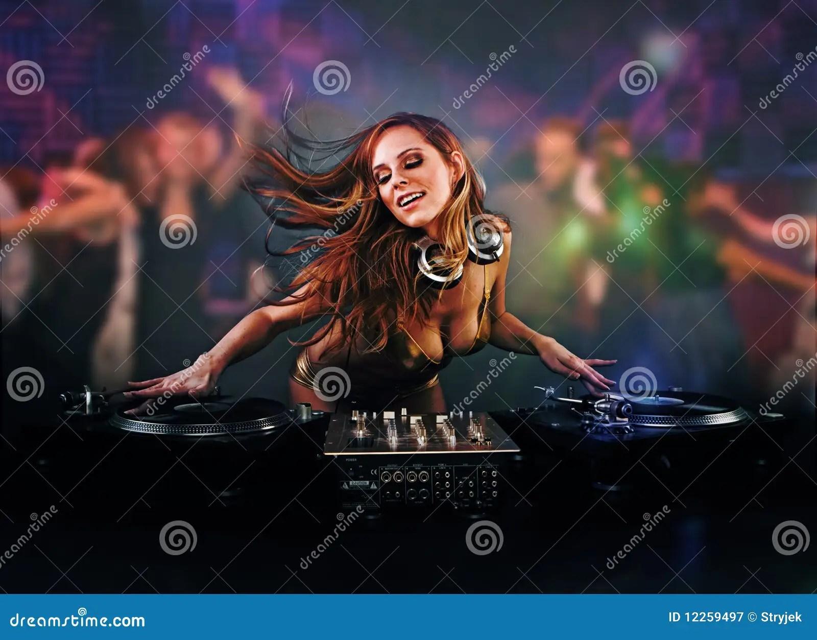 Beautiful Wallpapers 3d Animation Beautiful Dj Girl Royalty Free Stock Photography Image