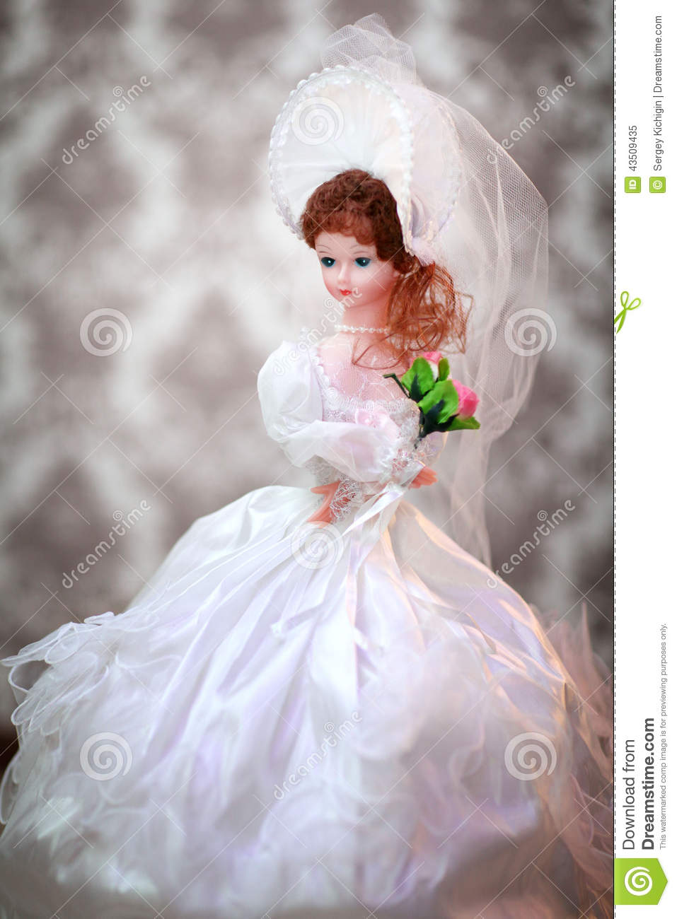 Cute Dolls Wallpapers With Quotes Beautiful Doll Bride In A Wedding Dress Stock Image