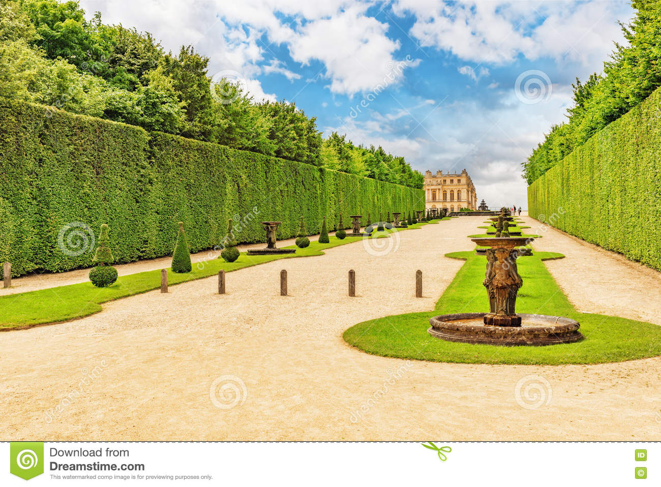 Versaille Jardin Beautiful Garden In A Famous Palace Of Versailles Chateau De