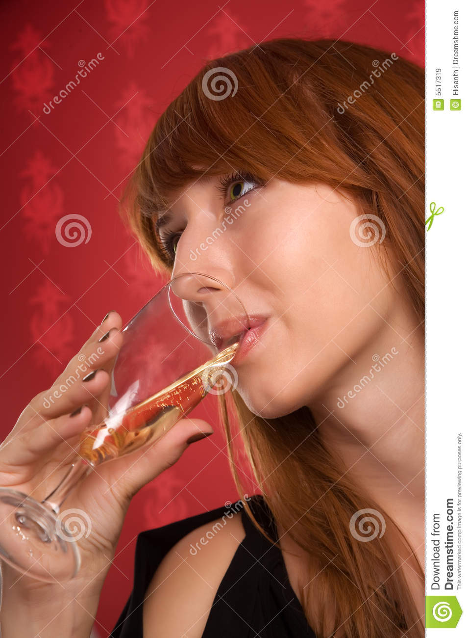 Girl Drinking Alcohol Wallpaper Beautiful Girl Drinking Champagne Royalty Free Stock