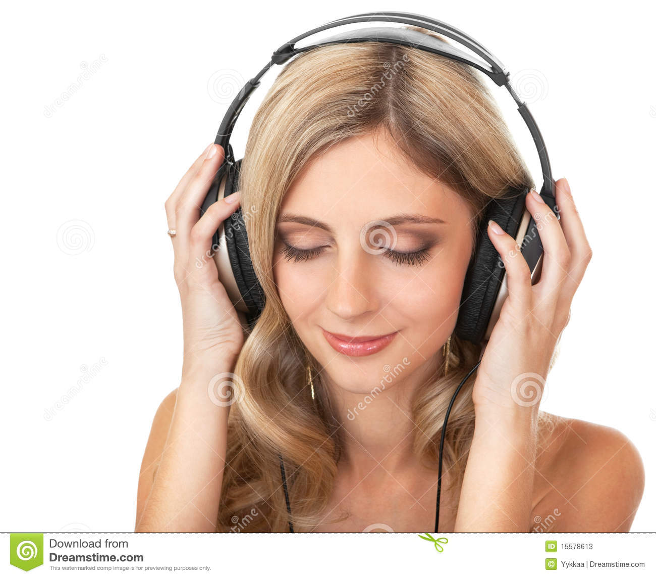 Beautiful Headphones Beautiful Girl In Headphones Stock Photos Image 15578613