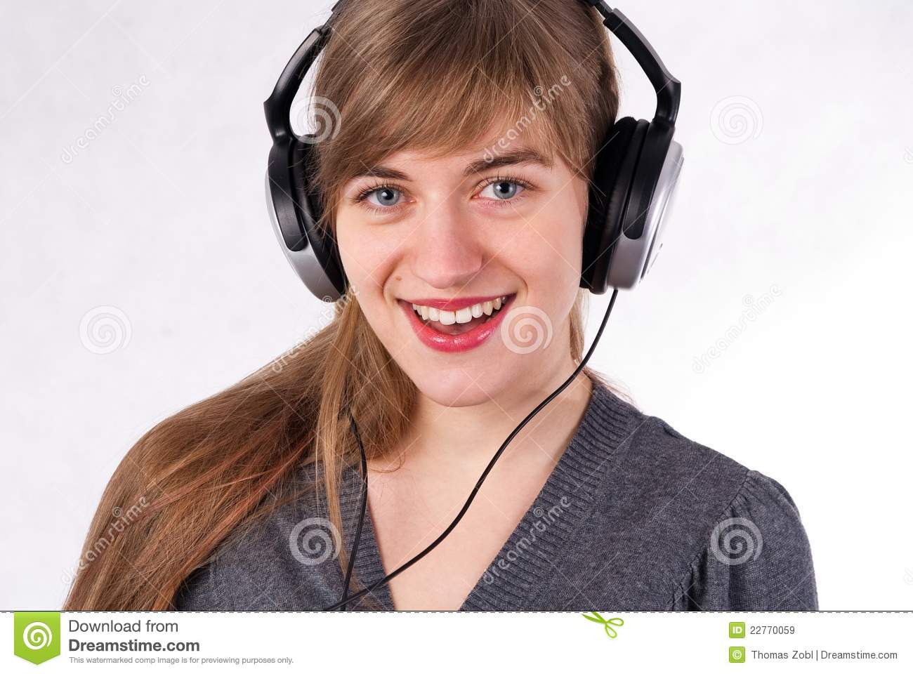 Beautiful Headphones Beautiful Girl With Headphones Royalty Free Stock Images