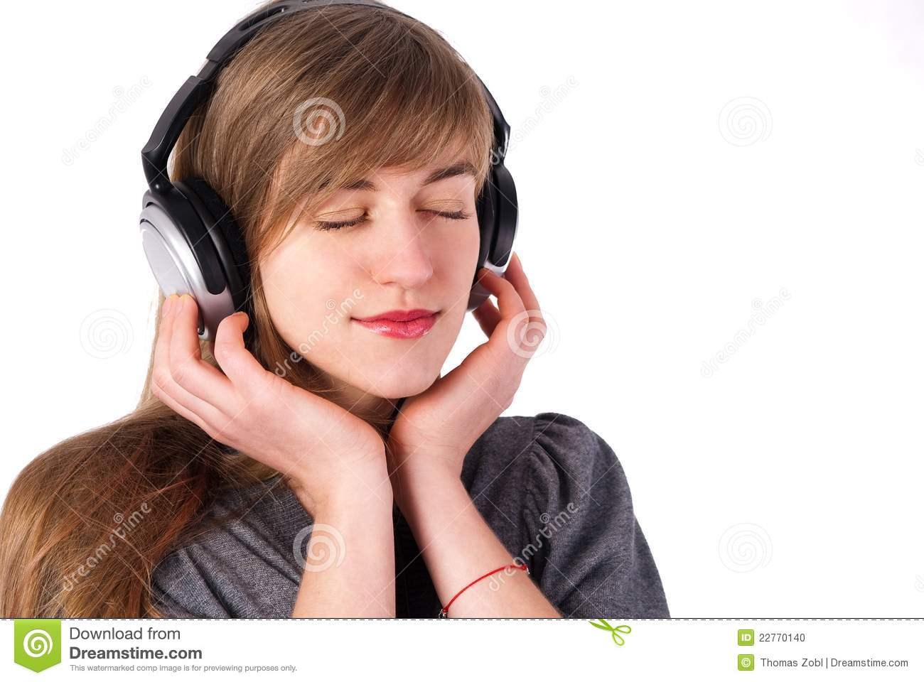 Beautiful Headphones Beautiful Girl With Headphones Stock Photo Image 22770140