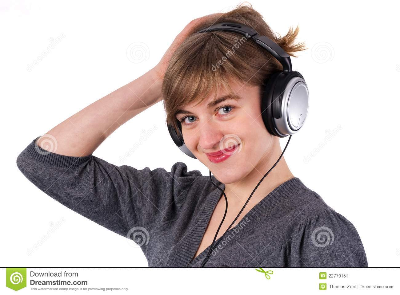 Beautiful Headphones Beautiful Girl With Headphones Stock Image Image 22770151
