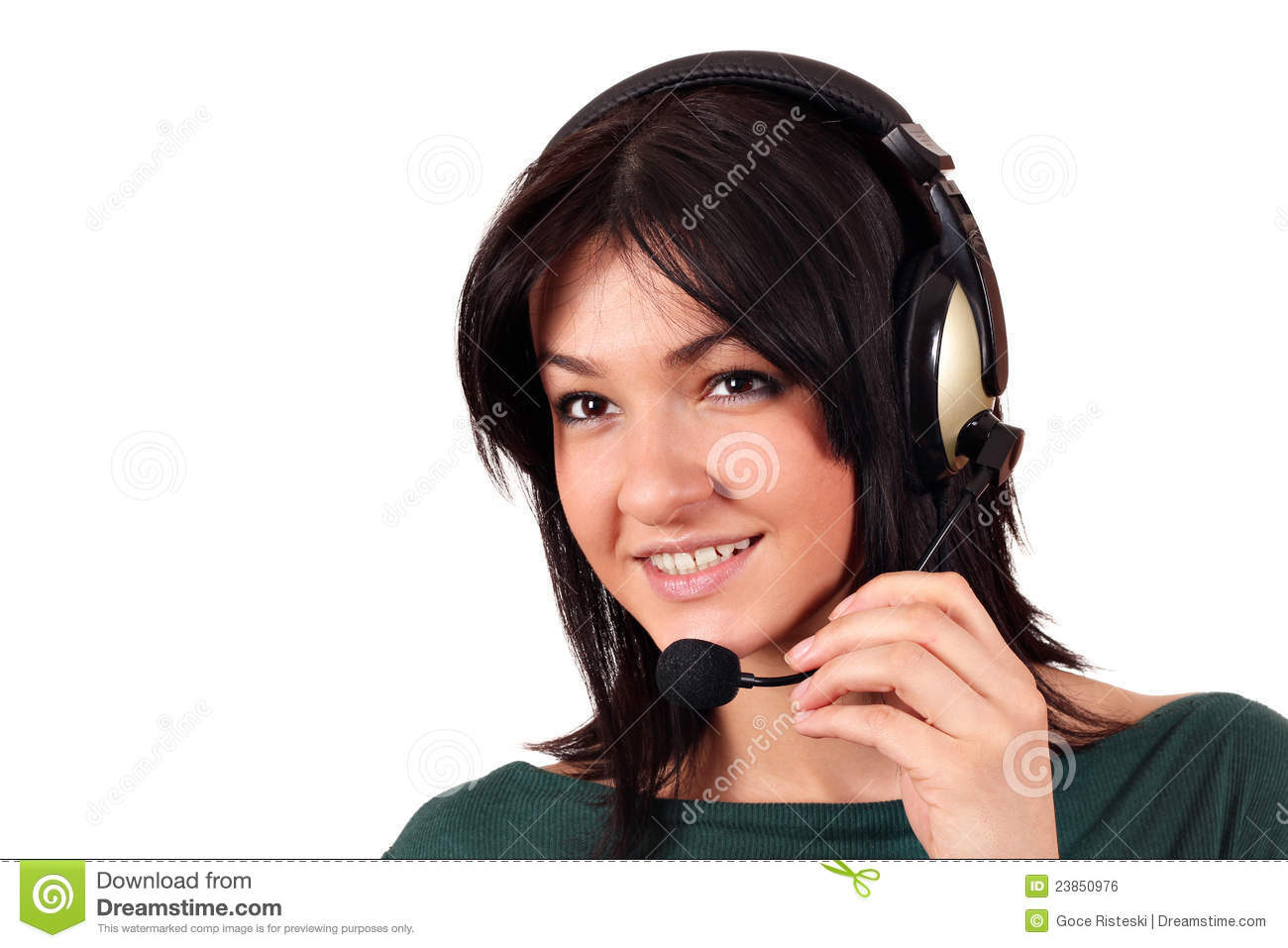 Beautiful Headphones Beautiful Girl With Headphones Royalty Free Stock Image