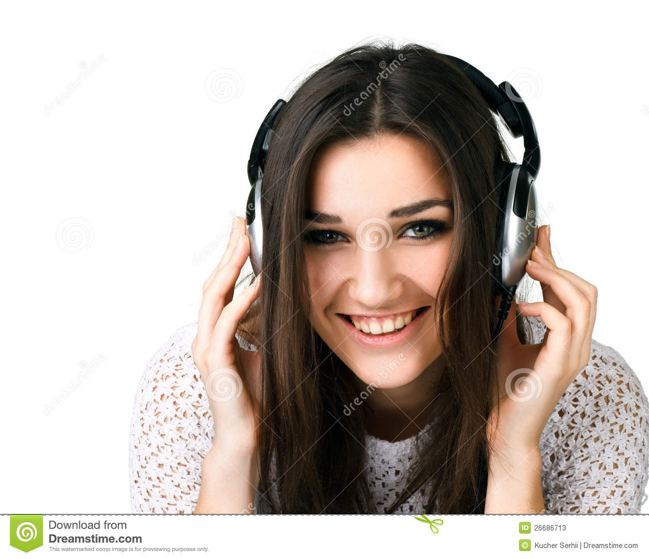 Beautiful Headphones Beautiful Girl In Headphones Stock Photos Image 26686713