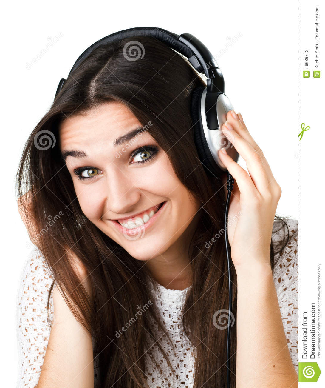 Beautiful Headphones Beautiful Girl In Headphones Stock Photography Image