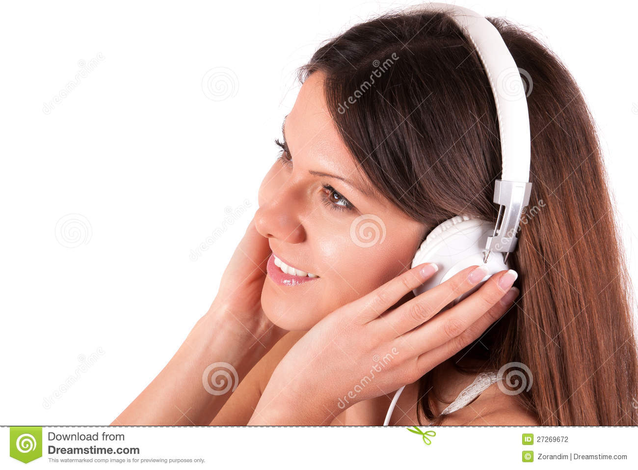 Beautiful Headphones Beautiful Girl With Headphones Stock Photography Image