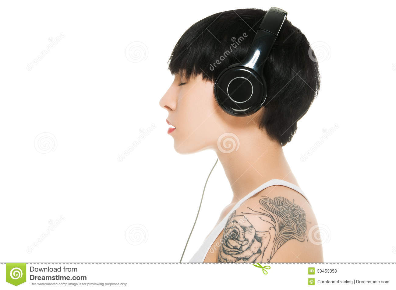 Beautiful Headphones Beautiful Girl With Headphones Royalty Free Stock Photos