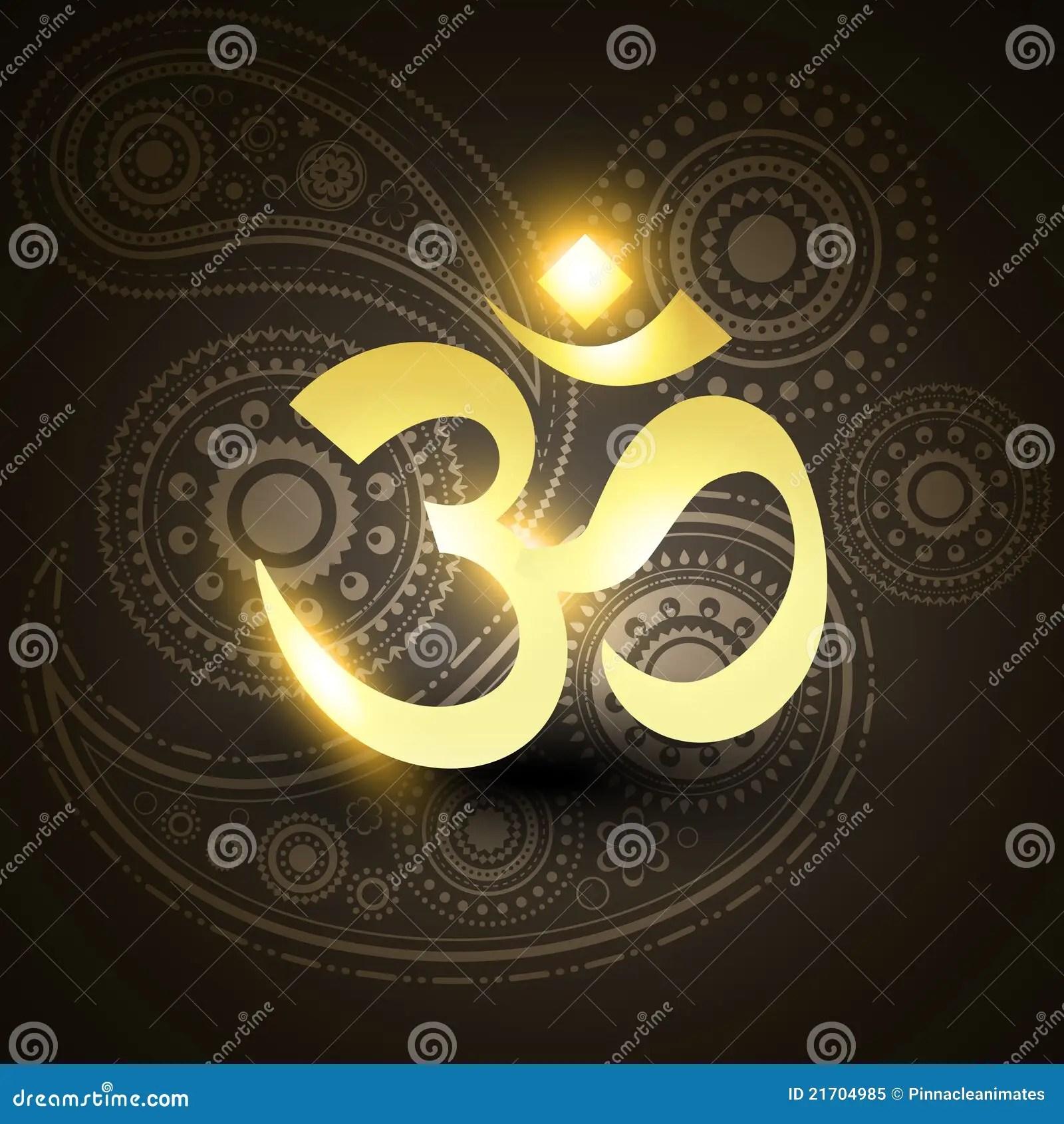 India Wallpaper 3d Beautiful Golden Om Symbol Stock Image Image 21704985