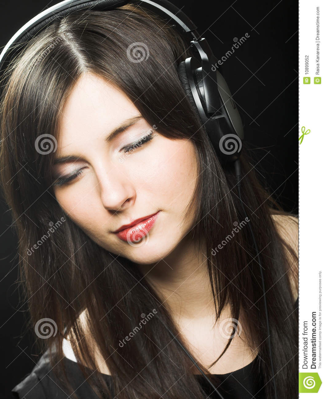 Beautiful Headphones Beautiful Headphones Girl Stock Photography Image 10899052