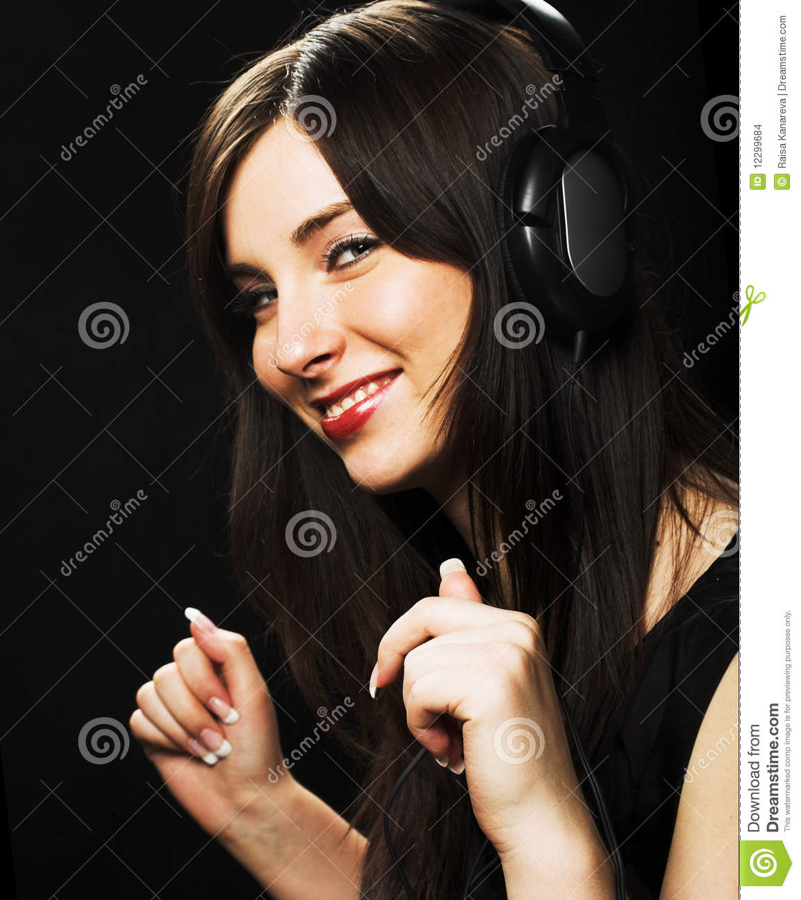Beautiful Headphones Beautiful Headphones Girl Stock Images Image 12299684