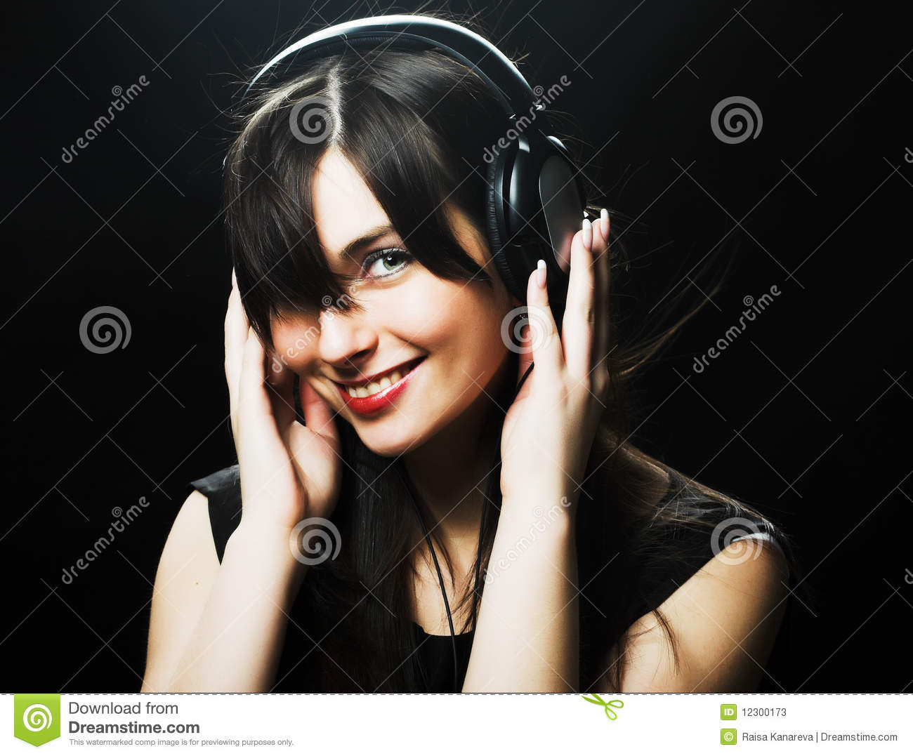 Beautiful Headphones Beautiful Headphones Girl Stock Photos Image 12300173
