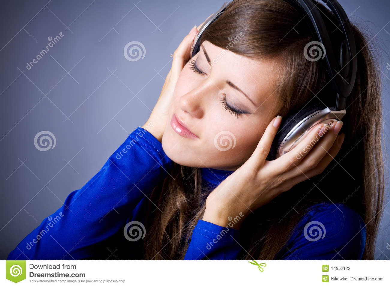 Beautiful Headphones Beautiful Headphones Girl Stock Photography Image 14952122