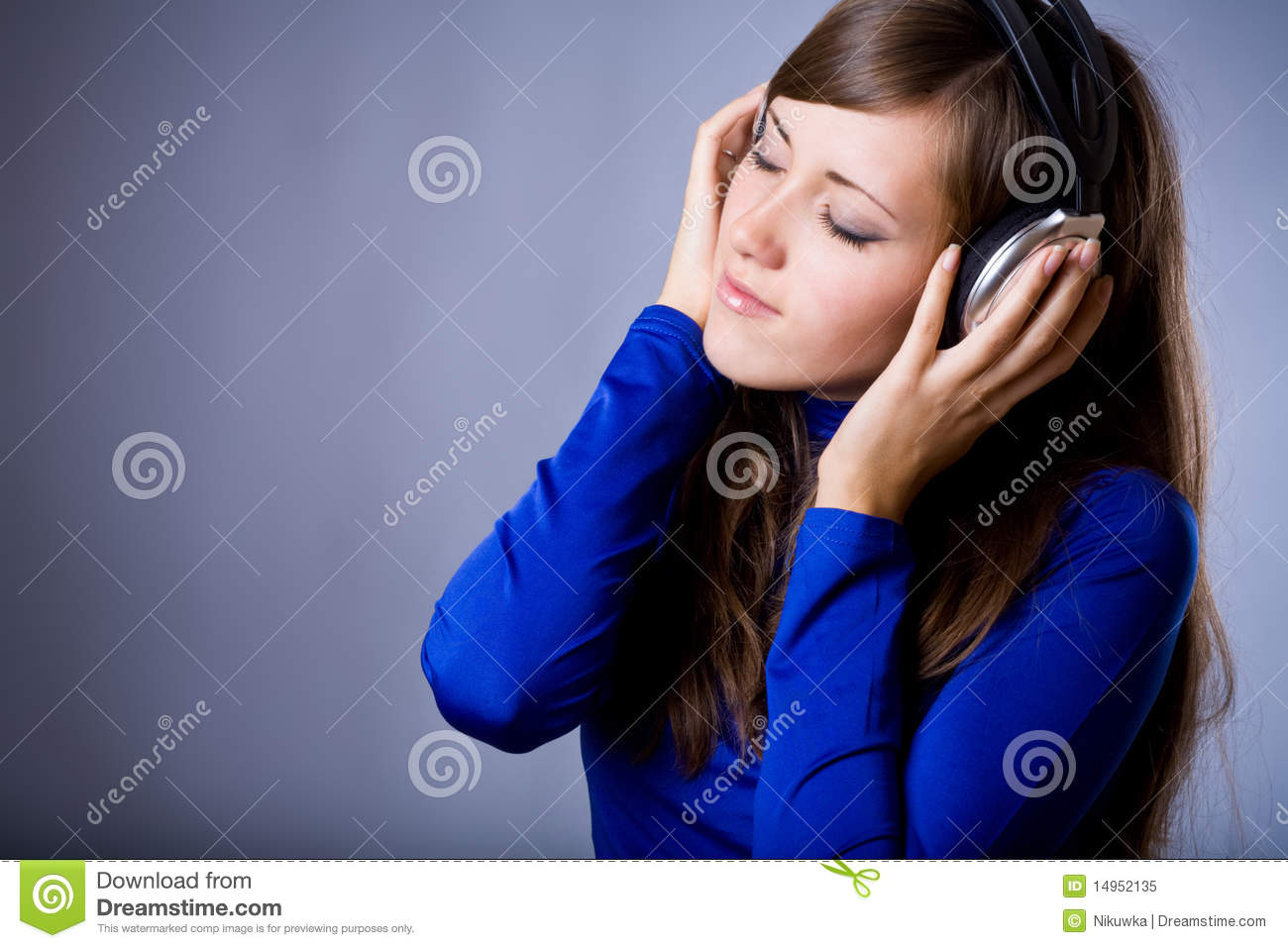 Beautiful Headphones Beautiful Headphones Girl Royalty Free Stock Photo Image