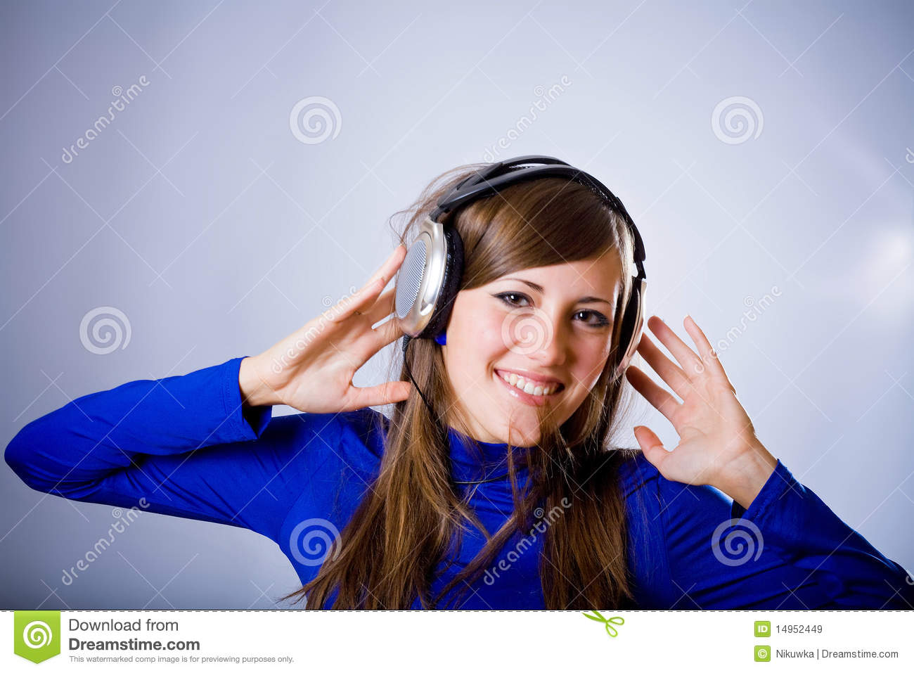 Beautiful Headphones Beautiful Headphones Girl Royalty Free Stock Images