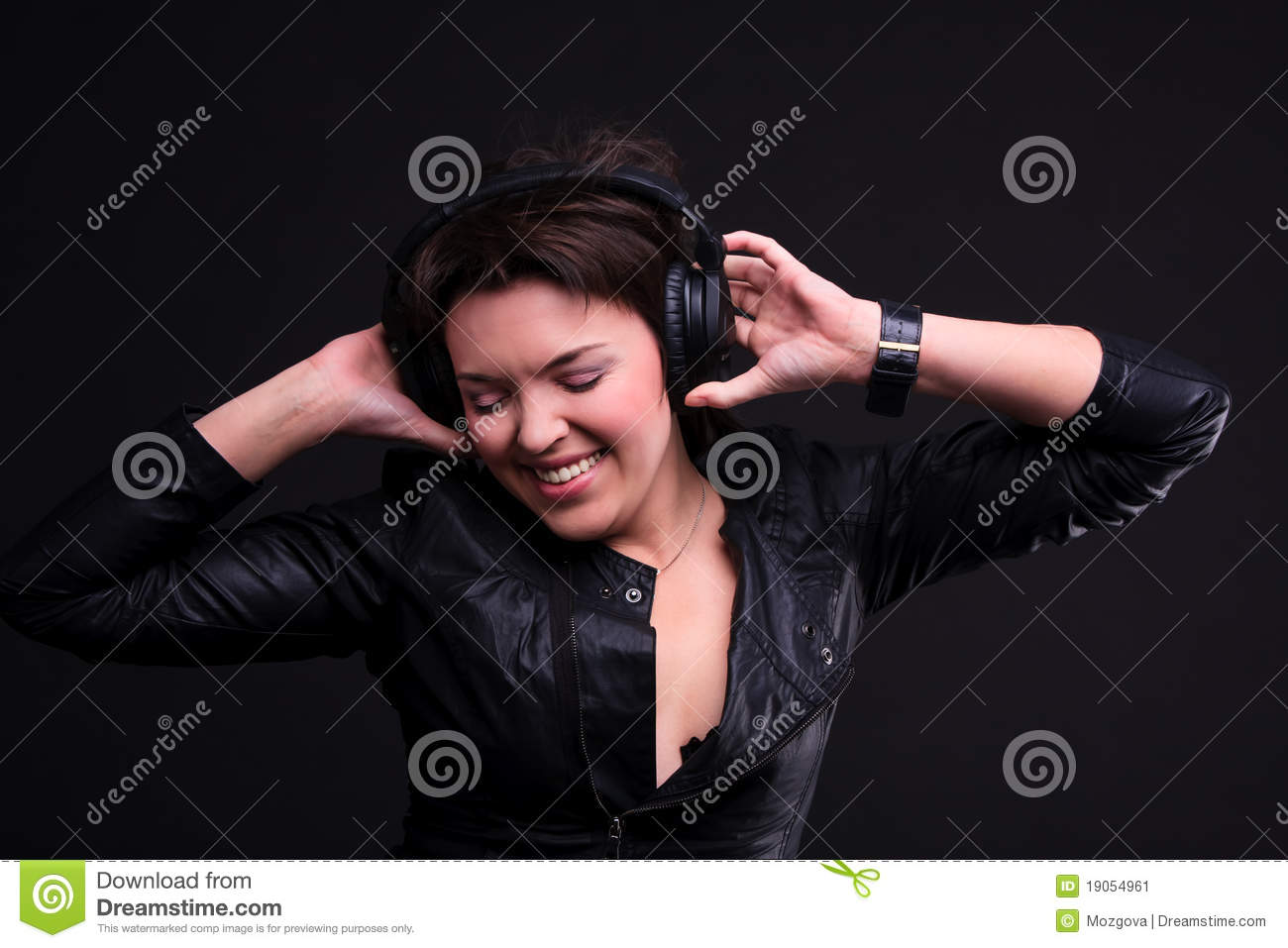 Beautiful Headphones Beautiful Headphones Girl Stock Image Image 19054961