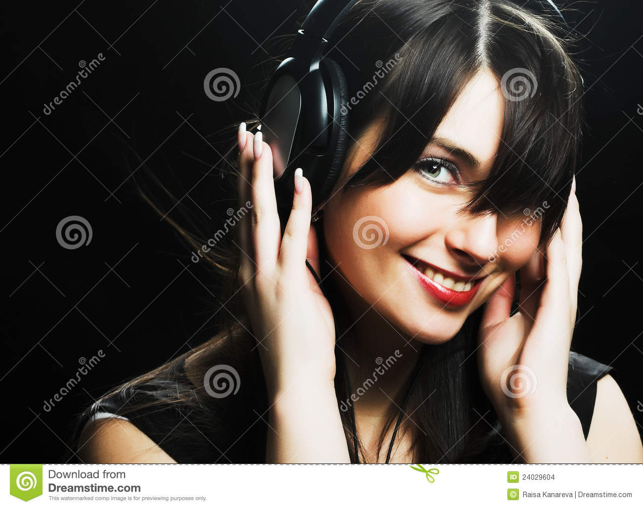 Beautiful Headphones Beautiful Headphones Girl Stock Images Image 24029604