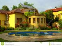 Beautiful House Garden Pool Stock Photo - Image: 46672938