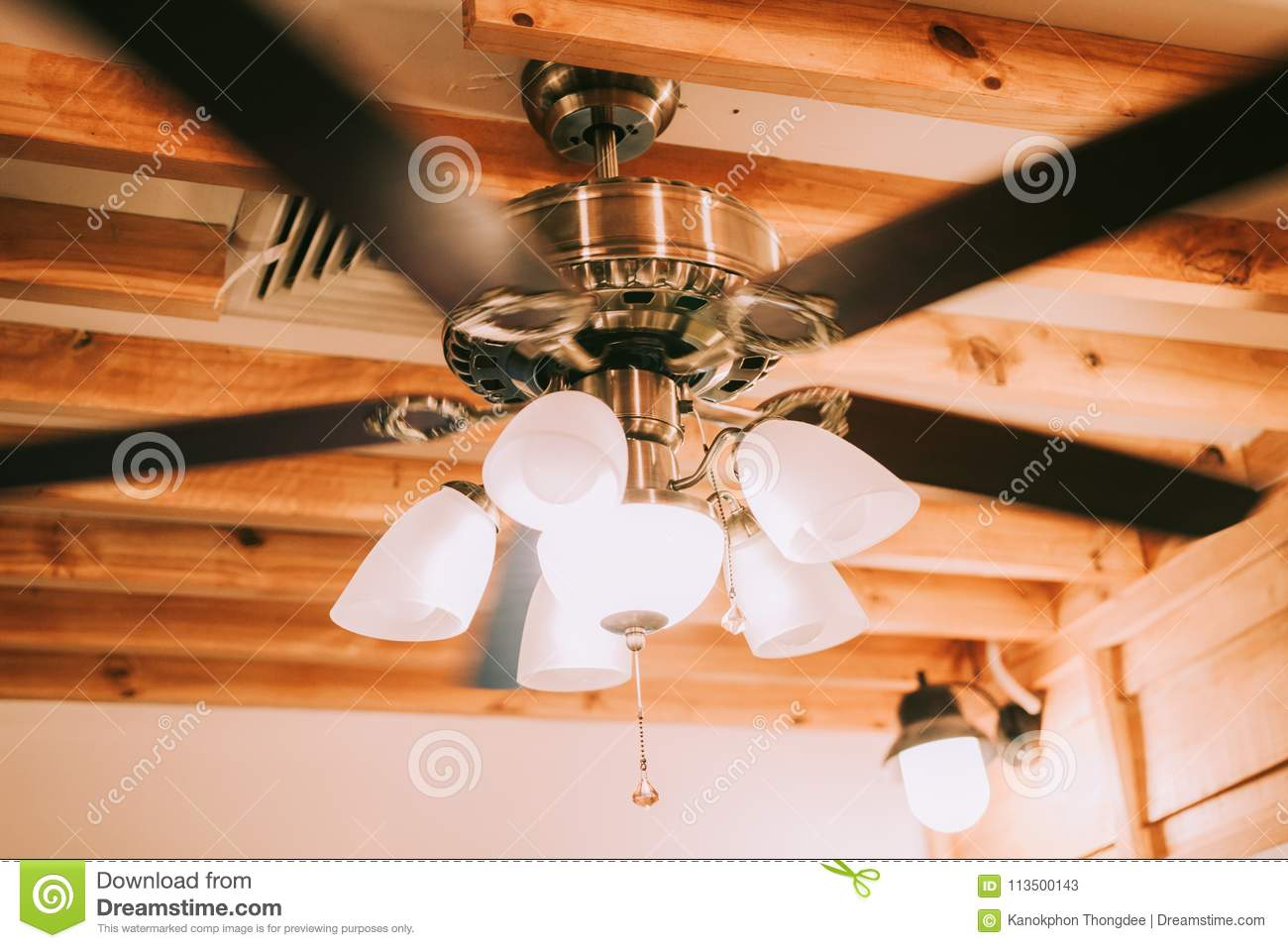 Luxury Ceiling Fan Beautiful Luxury Ceiling Fan Stock Image Image Of Dining Candle