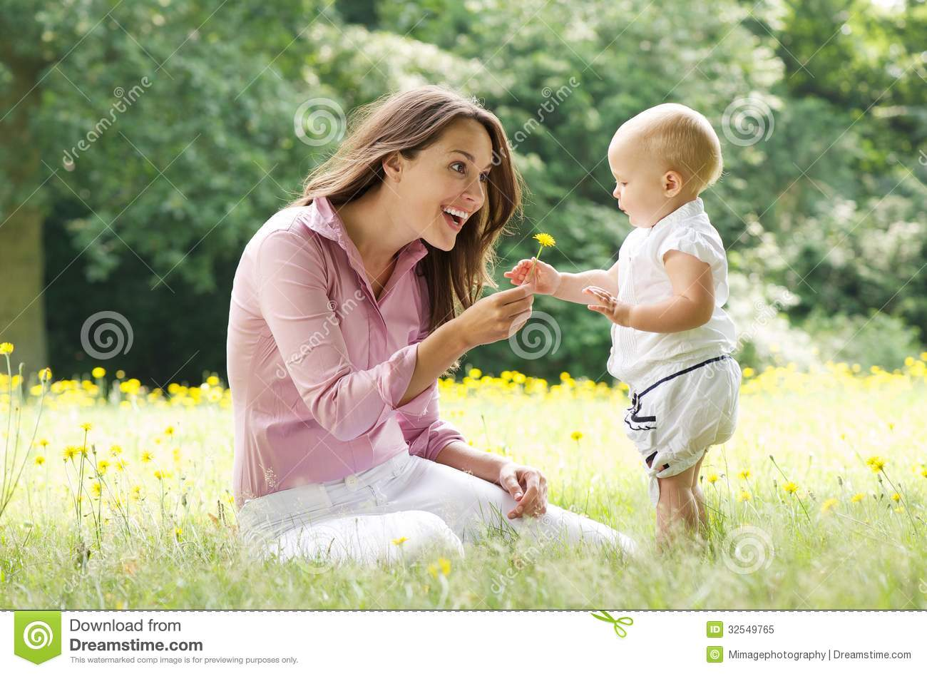 Fall Out Boy Flower Wallpaper Beautiful Mother With Baby Playing In The Park Stock Image